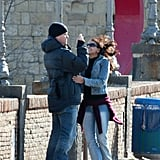 Matt Damon snapped pictures of Luciana while they toured Italy in February 2004.