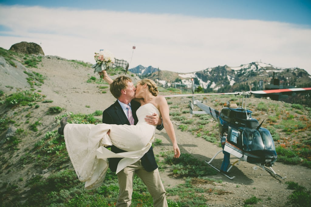 Take a Helicopter Ride Over California With This Bride and Groom