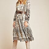 Anthropologie Cadence Tiered Midi Dress