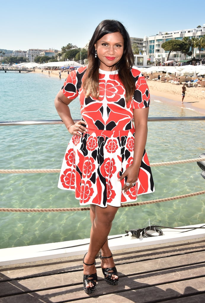 Stunning in a printed Alexander McQueen dress and YSL heels while promoting Inside Out at Cannes.