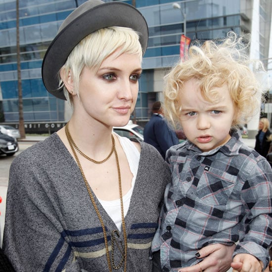 Pictures of Ashlee Simpson and Bronx at Lucky Event