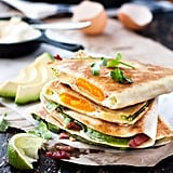 Whole Egg, Bacon, and Avocado Quesadillas