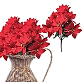 Banberry Designs Poinsettia Flowers Pick Set of 4