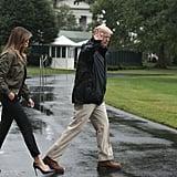 Melania Trump Wears Heels to Texas For Hurricane Harvey