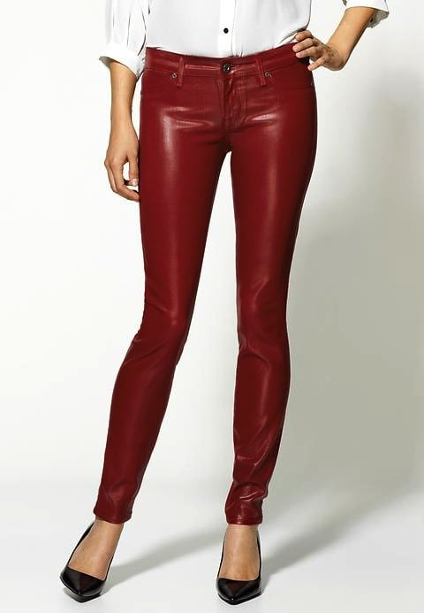 Or, why not try a more daring red pant via these Rich & Skinny red leather pants ($149, originally $198)?