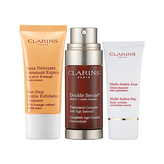 An exfoliant, serum, and correcting cream are all here in Clarins's Double Serum Set ($85) which helps balance out your skin tone and make pores less visible.