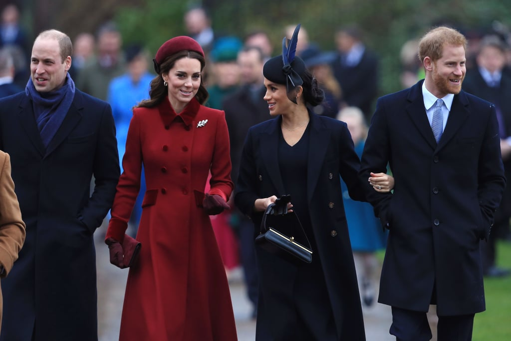 A very busy season of festivities continued for the royal family as they walked to St. Mary Magdalene Church in Sandringham for the morning service on Christmas Day. The church visit is a royal tradition, and a number of senior members of the royal family were in attendance, including Prince Charles, the Duke and Duchess of Cambridge, and the Duke and Duchess of Sussex. Though there have been rumors of a rift between William and Kate and Harry and Meghan recently, it seemed like business as usual as the fab four arrived at the church in their warmest Winter outfits: Kate in red and Meghan in all black.      Related:                                                                                                           11 Surprising Things We Learned About the Royal Family This Year               Christmas is a notoriously busy time for the royals, and festivities began on Dec. 19, when members of the family visited Buckingham Palace for the queen's Christmas lunch. Following this, Queen Elizabeth II was spotted boarding a Norfolk-bound train for her annual trip to Sandringham. The queen famously travels on a regularly scheduled train service each year (though she has her own private first class carriage, naturally). Once the queen arrives at Sandringham, the rest of the family quickly follows. After the church service, the family will return to Sandringham for a traditional Christmas lunch. It's likely they will then gather around the television to watch the queen's speech, which the monarch prerecords in the weeks leading up to Christmas. This year, she definitely has plenty to talk about!