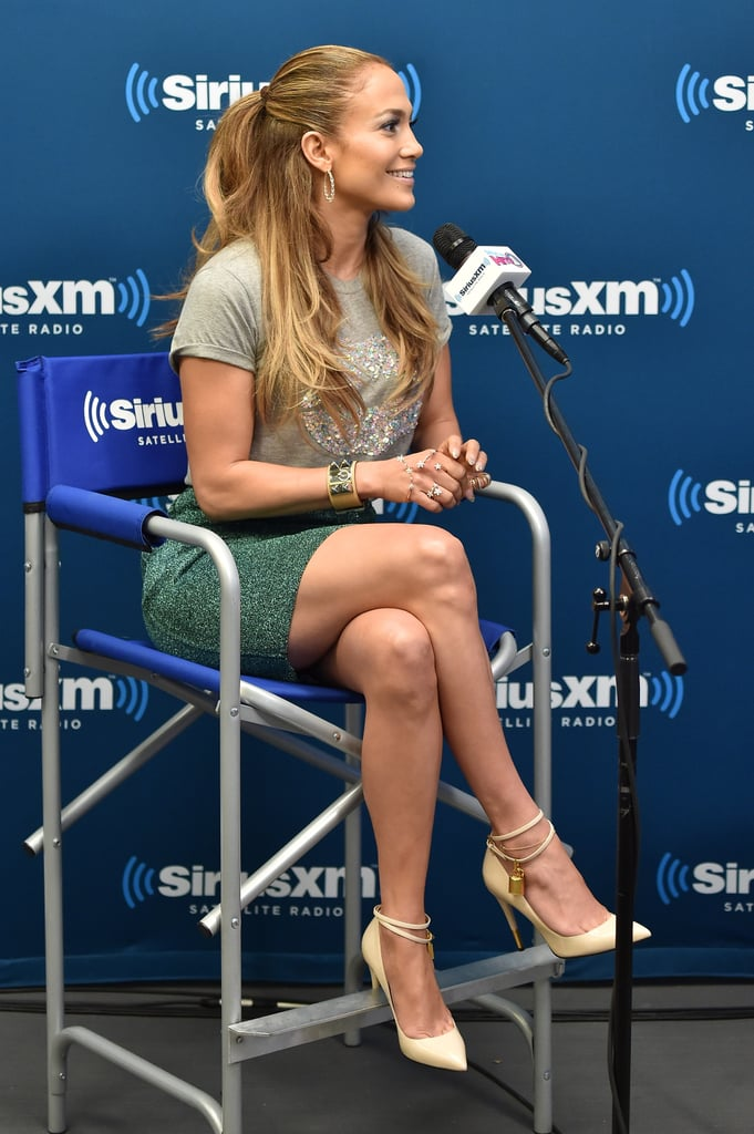 Jennifer Lopez's Half-Up Ponytail in 2014