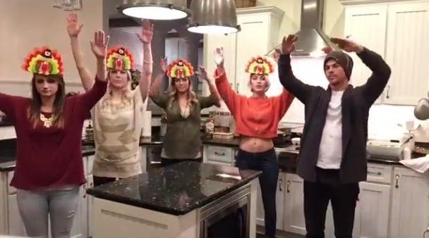 Derek and Julianne Hough's Family Dancing at Thanksgiving