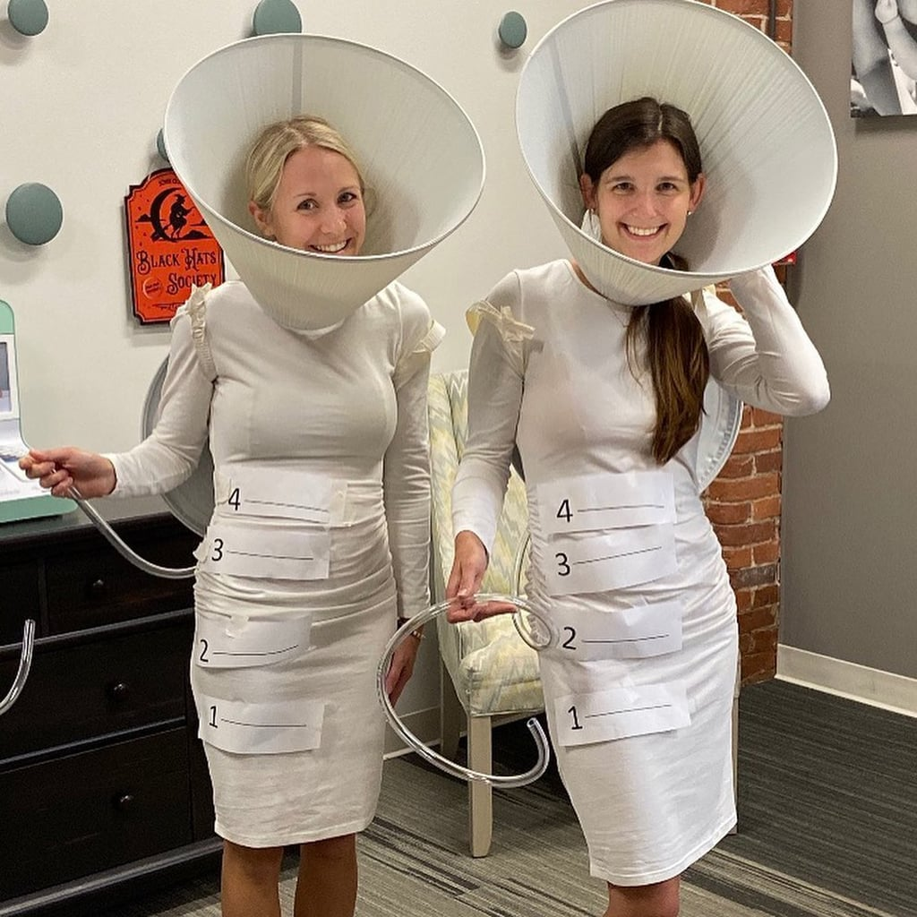 Moms Dress Up as Spectra Breast Pump Flanges For Halloween
