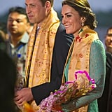 The couple were greeted with a ceremonial welcome at the Tezpur Airport in April.