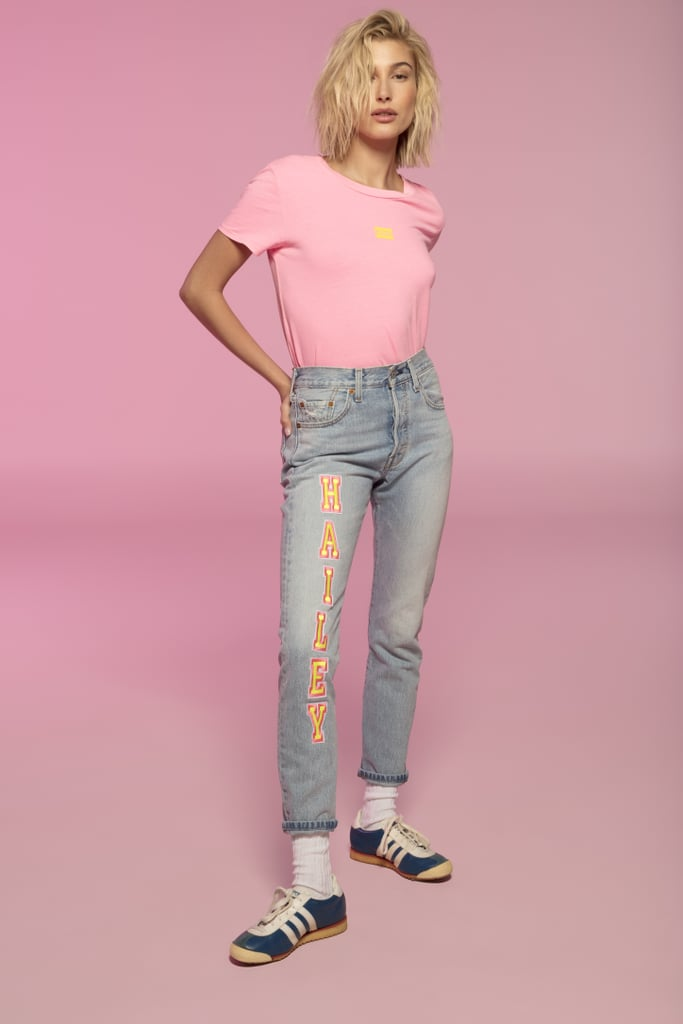 Hailey Baldwin x Levi's Graphic Cropped Tee Shirt
