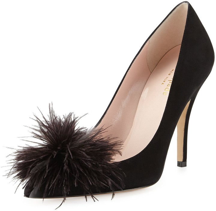 Kate Spade Lilo Pouf Point-Toe Suede Pump ($350)