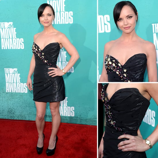 Pictures of Christina Ricci in Christian Siriano for Timex Watch Dress on the red carpet at the 2012 MTV Movie Awards: Rate it?