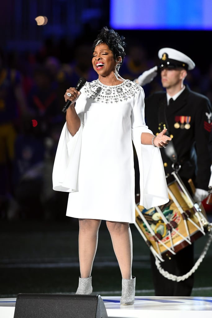 Gladys Knight Is a Vision as She Performs a Soulful Rendition of the National Anthem