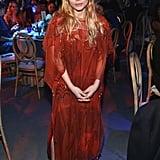 Ashley Olsen Red Beaded Dress