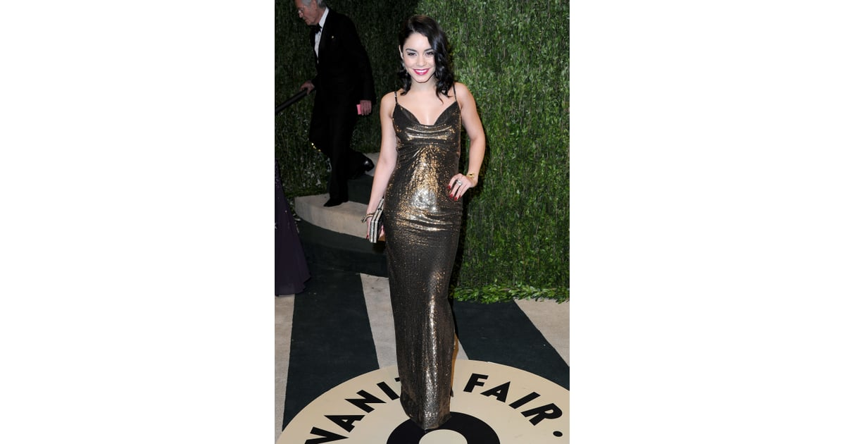 vanessa hudgens oscars party dresses 2013 pictures