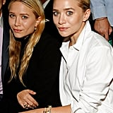 Mary-Kate and Ashey Olsen sat front row at J. Mendel.