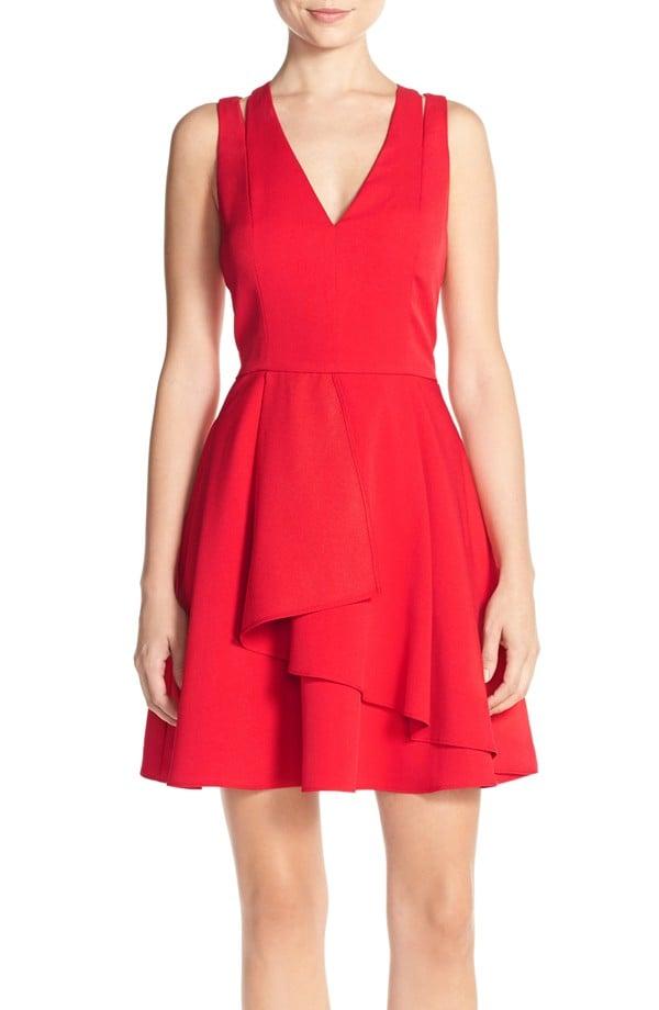 Adelyn Rae Cross Back Crepe Fit & Flare Dress ($94)