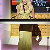 Donatella Versace was a presenter at the 2011 Women of the Year Awards.
