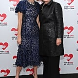 Anna Wintour and Hillary Clinton met up on the black carpet.