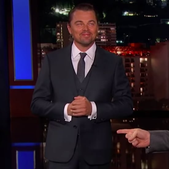 Leonardo DiCaprio Brad Pitt Interrupt Jimmy Kimmel Video