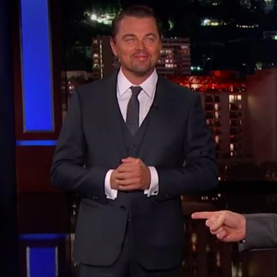 Leonardo DiCaprio Brad Pitt Interrupt Jimmy Kimmel Video