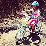 Cash Warren hopes to teach Honor how to ride without her training wheels this Summer. Source: Instagram user cash_warren