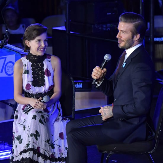 Millie Bobby Brown and David Beckham at the UNICEF Event