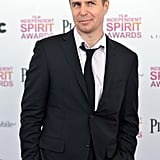 Sam Rockwell on the red carpet at the Spirit Awards 2013.