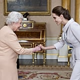The Queen Met Angelina Jolie . . .