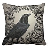 SJbaby Modern Vintage Halloween Crow Pillow Case