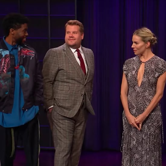 Sienna Miller, Chadwick Boseman Play James Corden Phone Game