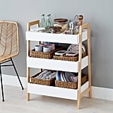 White Multipurpose 3-Tier Shelf