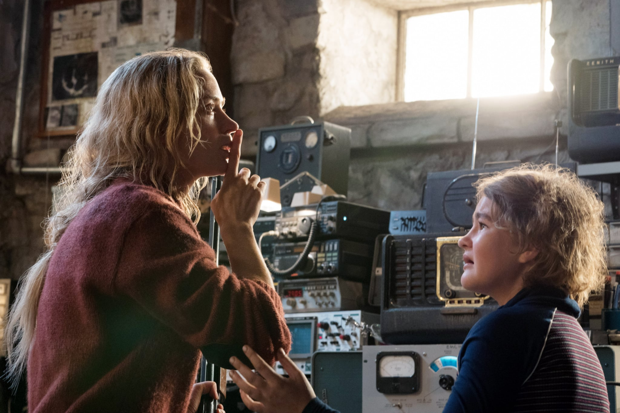 A QUIET PLACE, from left: Emily Blunt, Millicent Simmonds, 2018. ph: Jonny Cournoyer /  Paramount /Courtesy Everett Collection