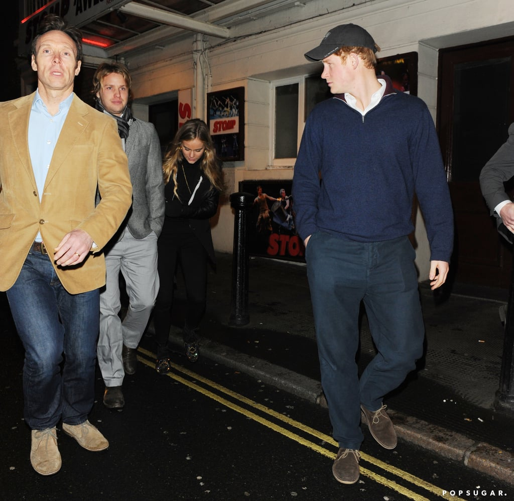 He was joined by Cressida and her brother-in-law, Sam Branson.