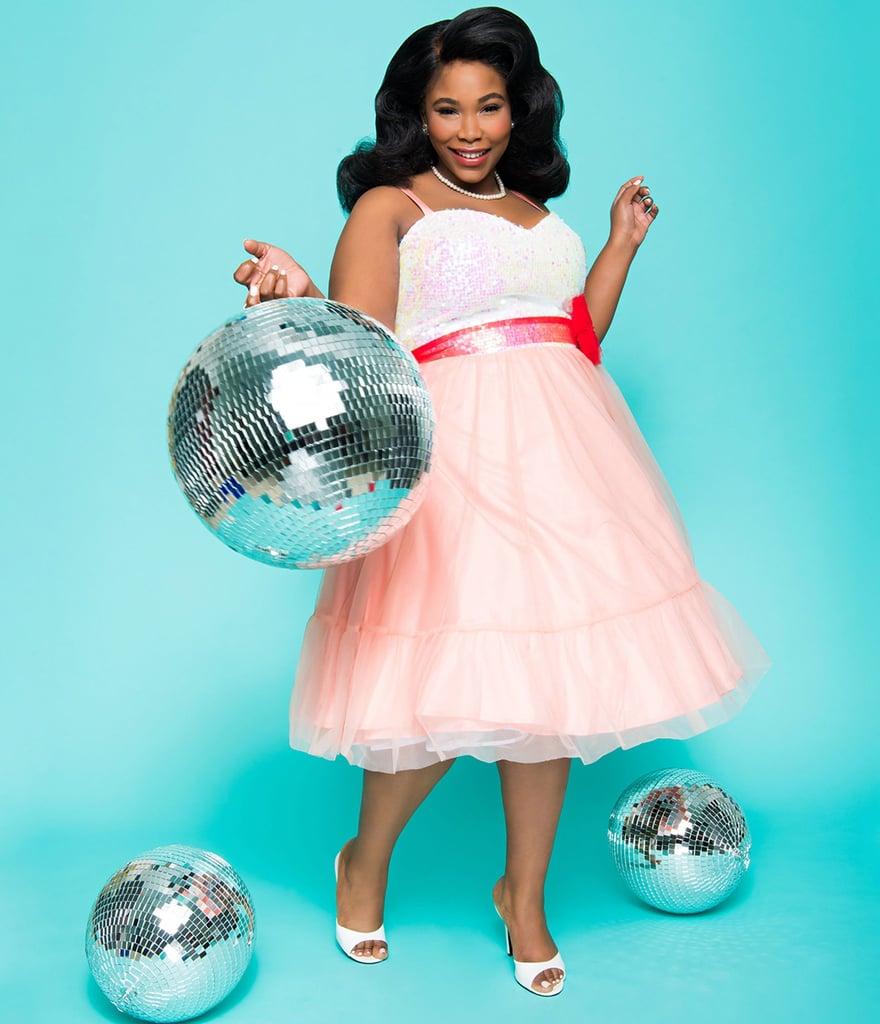 fe5f859f9985f Barbie x Unique Vintage Plus Size Peaches N Cream Chiffon Dress ...