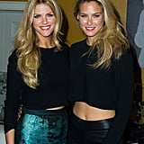 Brooklyn Decker and Bar Refaeli paired up at the Leather and Laces party.