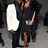 Kevin Hart and Eniko Parrish at Diddy's 50th Birthday Party