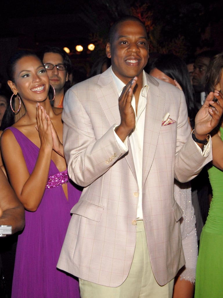 Beyoncé and Jay-Z attended L.A. Reid's 50th birthday party in June 2006 at Nobu in New York.