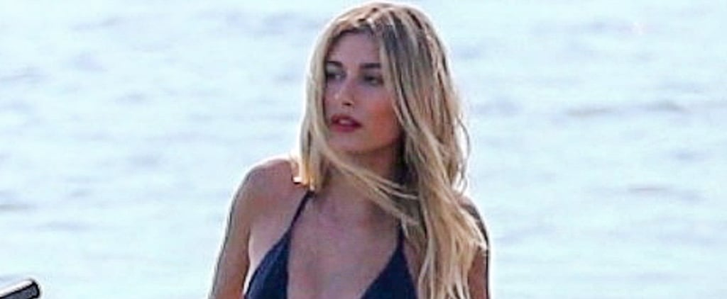 Hailey Baldwin Doing a Bikini Photo Shoot in Miami