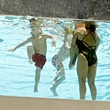 Lynne Spears, Sean Preston Federline, Jayden James Federline, Maddie Aldridge enjoyed the warm day.