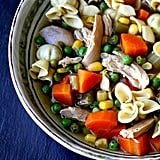 Veggie and Chicken Soup with Sacchetti