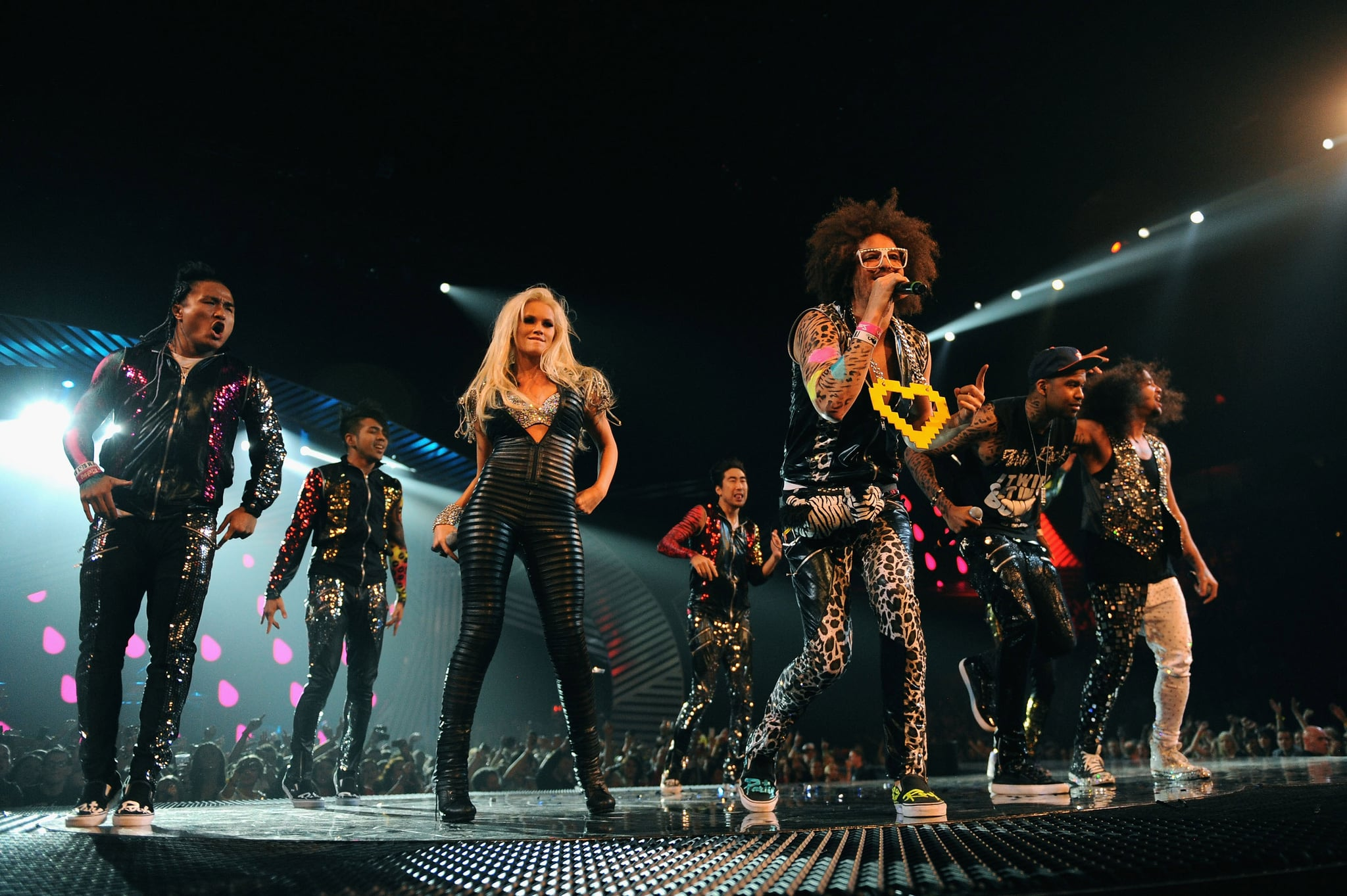 LMFAO performed their hits for the Irish crowd.