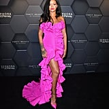 He Was Behind Rihanna's Hot Pink Cascading Gown