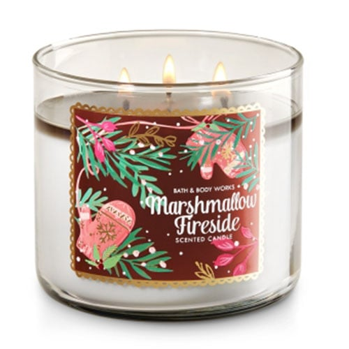 Bath & Body Works 3-Wick Marshmallow Fireside Candle
