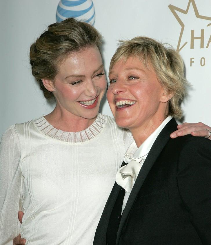 Portia De Rossi Wedding Gown: Ellen DeGeneres And Portia De Rossi PDA Pictures