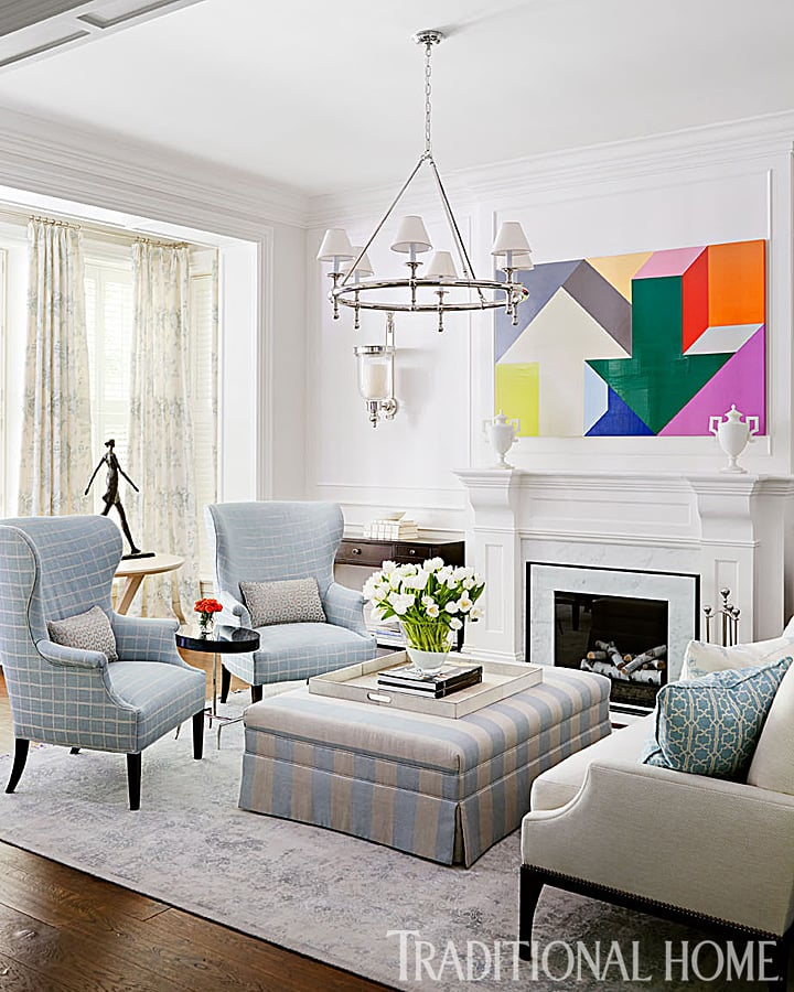Bill And Giuliana Rancic's Chicago Living Room Employs The
