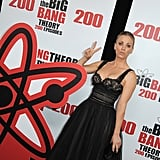 She showed off her dress from all angles.