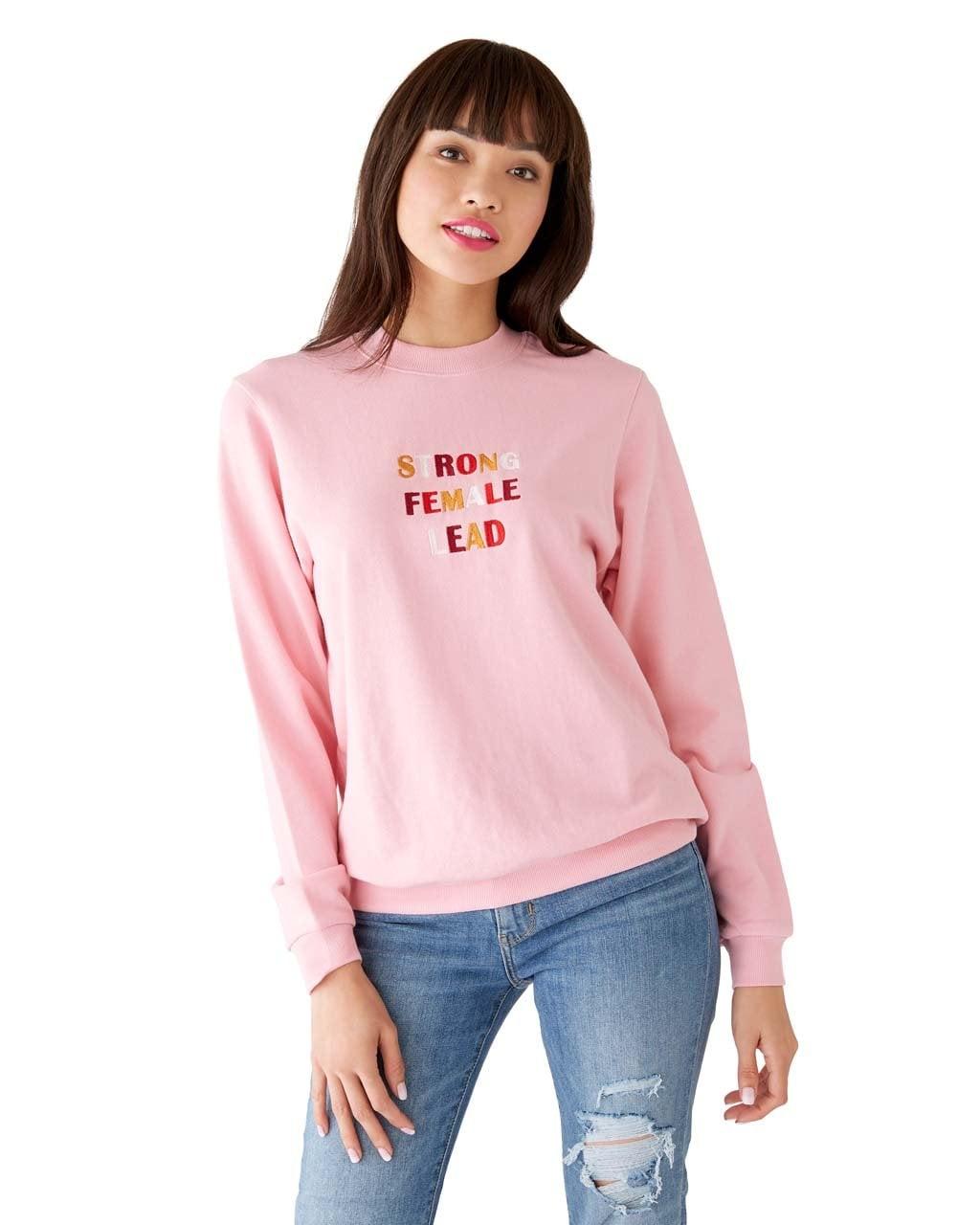 9978c54b5 Ban.do x Realm Strong Female Lead Sweatshirt | Want to Wear Pajamas ...
